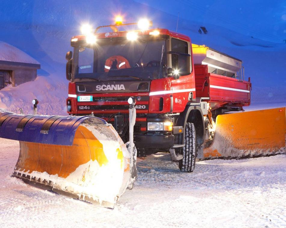 Mezzi per lo sgombero neve a Livigno