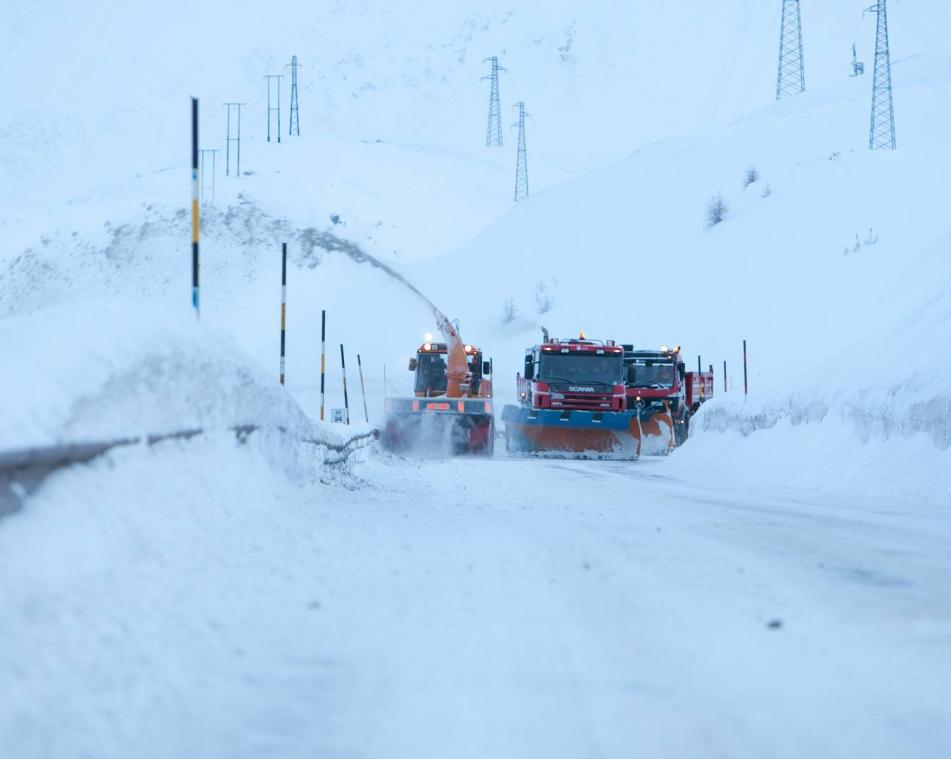 Sgombero neve a Livigno